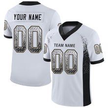 Load image into Gallery viewer, Custom White Black-Vegas Gold Mesh Drift Fashion Football Jersey