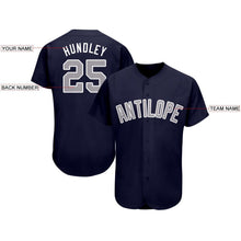 Load image into Gallery viewer, Custom Navy Gray-White Baseball Jersey