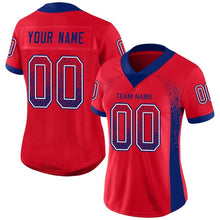 Load image into Gallery viewer, Custom Scarlet Royal-White Mesh Drift Fashion Football Jersey
