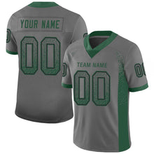 Load image into Gallery viewer, Custom Gray Gotham Green-Black Mesh Drift Fashion Football Jersey