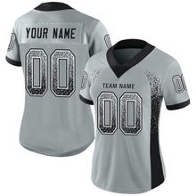 Load image into Gallery viewer, Custom Silver Black-White Mesh Drift Fashion Football Jersey