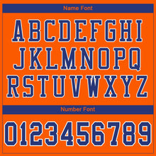 Load image into Gallery viewer, Custom Orange Royal-White Mesh Authentic Football Jersey