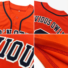 Load image into Gallery viewer, Custom Orange Black-Old Gold Authentic Baseball Jersey