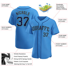 Load image into Gallery viewer, Custom Powder Blue Navy-Aqua Authentic Baseball Jersey