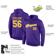 Load image into Gallery viewer, Custom Stitched Purple Gold-White Sports Pullover Sweatshirt Hoodie