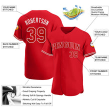 Load image into Gallery viewer, Custom Red Red-White Authentic Baseball Jersey