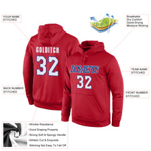 Load image into Gallery viewer, Custom Stitched Red White-Royal Sports Pullover Sweatshirt Hoodie