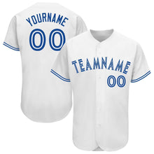 Load image into Gallery viewer, Custom White Royal Baseball Jersey