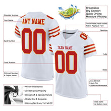 Load image into Gallery viewer, Custom White Scarlet-Gold Mesh Authentic Football Jersey