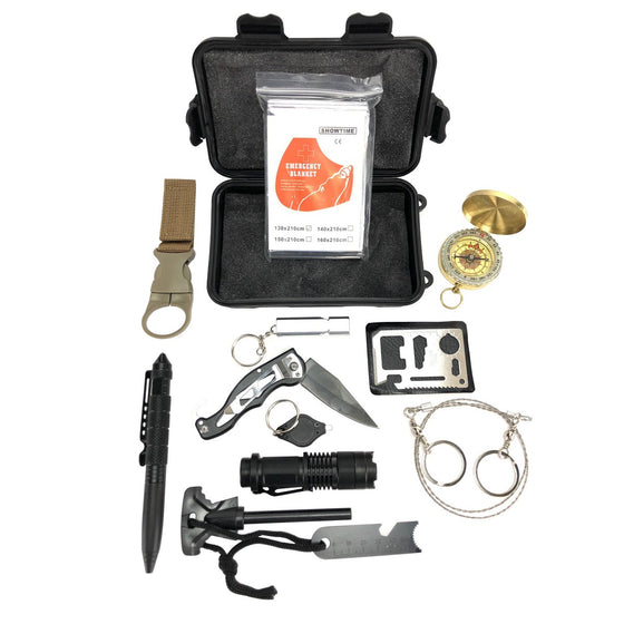 13 in 1 Multifunctional Compact Emergency Survival Kit