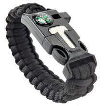 5 in 1 Black Multifunctional Tactical Paracord Bracelet