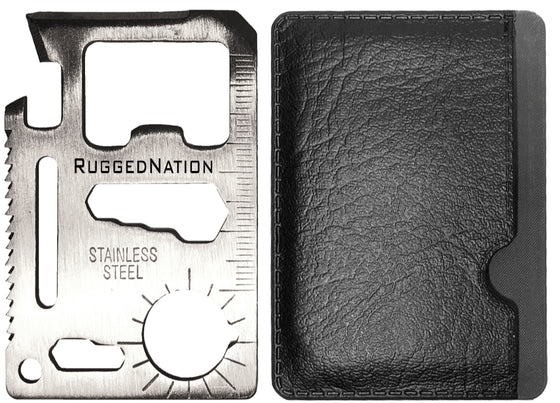 11 In 1 Stainless Steel Multi Function Credit Card Wallet Survival Pocket Tool