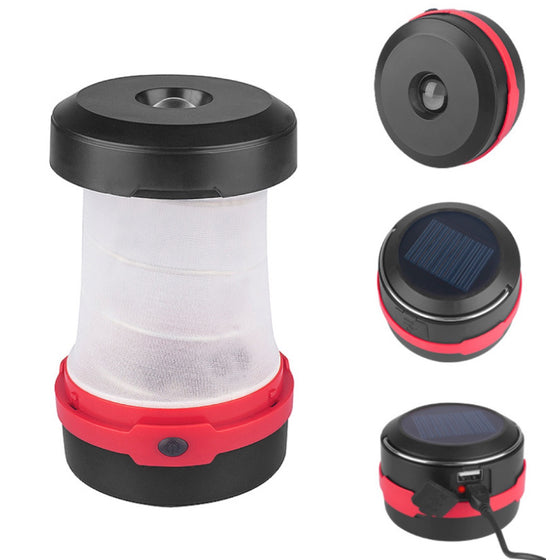 3 Mode Solar Rechargeable LED Camping Lantern