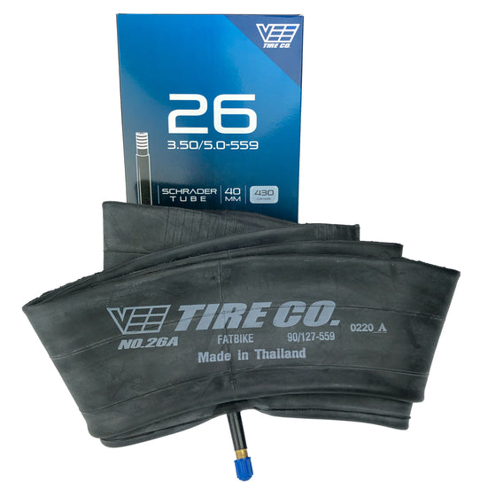 26x3.50 Vee Tire 26 inch Fatbike Fat Tire Inner Tube 26 x3.50 Schrader Valve