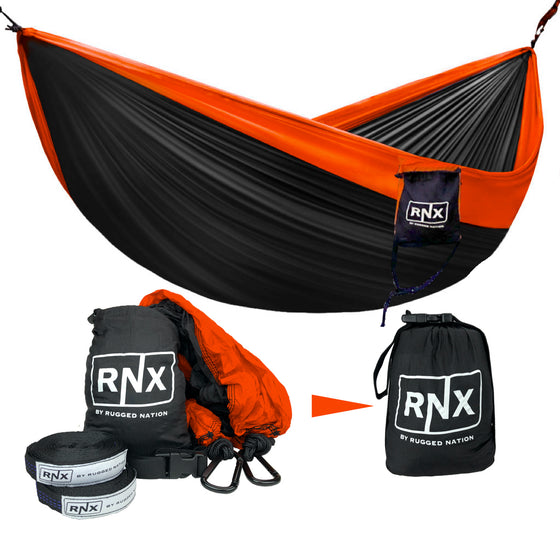 RNX Portable Double Hammock Lightweight Parachute Nylon for Outdoor Camping