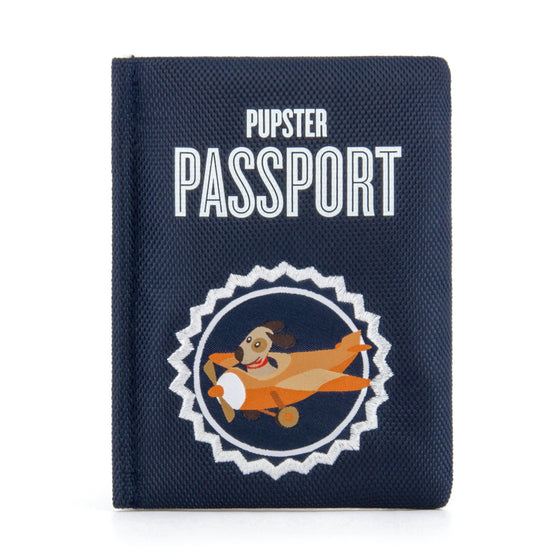 P.L.A.Y. Pet LifeStyle and You Globetrotter Double Squeak Passport Dog Toy. PLAY