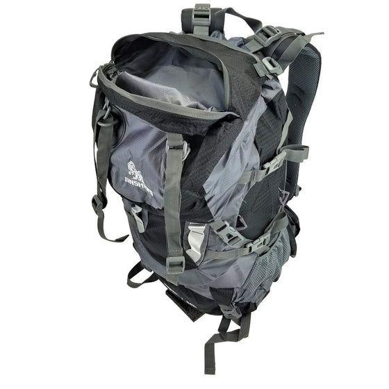 Black 60L Outdoor Water Resistant Backpack Hiking Bag Camping Backpacking Pack