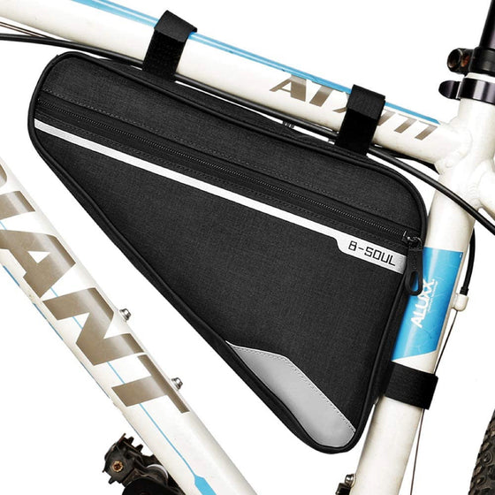 Triangle Bike Frame Bag, Water Resistant, Lightweight for MTB and Road Cycling