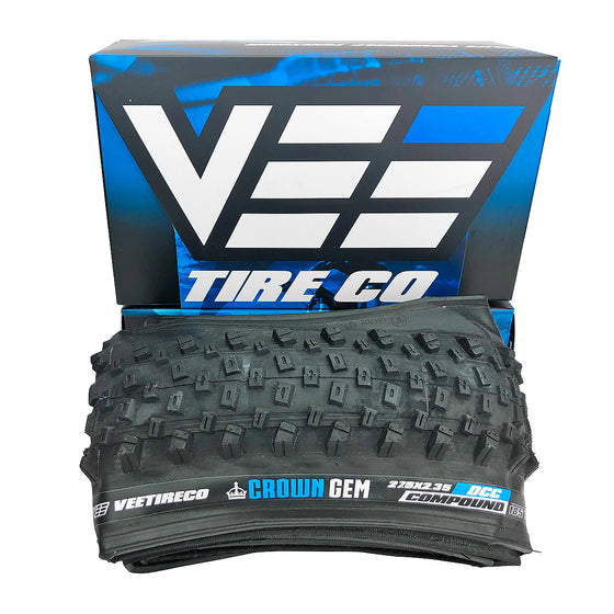 Vee Tire Crown Gem 27.5x2.35 Bike Tire Tubeless Ready Dual Control Folding Bead