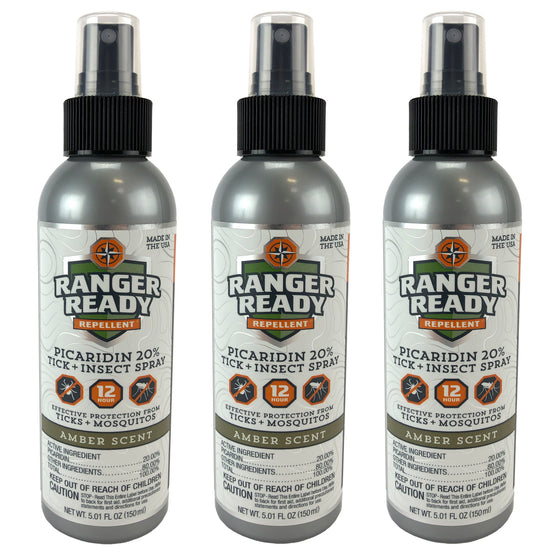 Ranger Ready Deet Free Insect Repellent Bottle (20% Picaridin)