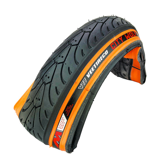 Vee Tire City Wolf Sidewall Bike Tire Folding Bead Semi Smooth - Some Reflective Colors