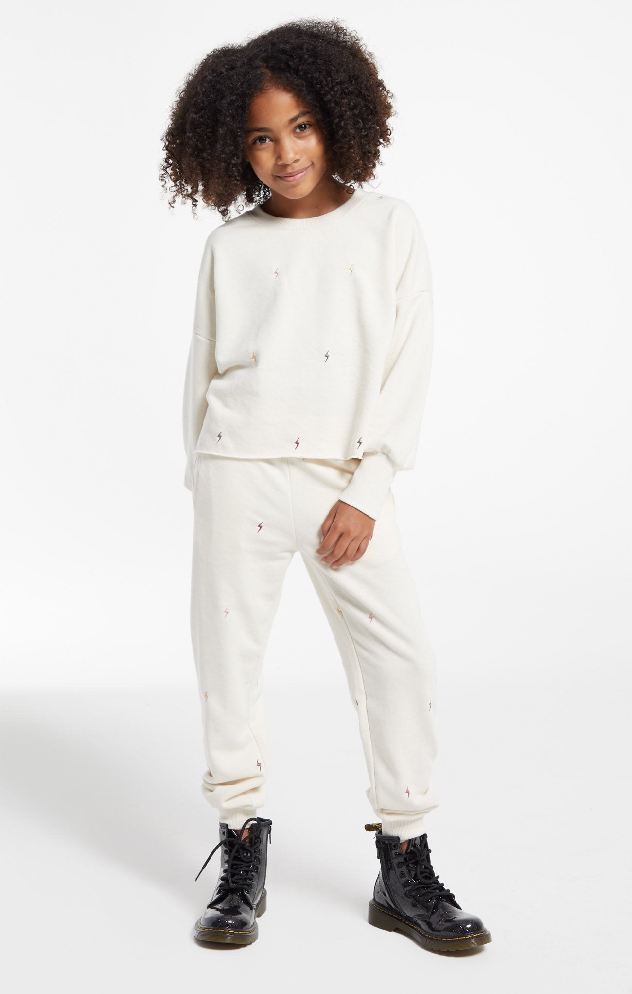 Girls Selene Lightning Jogger - Bone