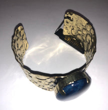 Load image into Gallery viewer, Blue Stone Cuff Bracelet