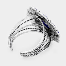 Load image into Gallery viewer, Blue Lapiz Lazuli cuff bracelet