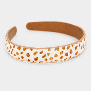 Cheetah Camel Color Head Band
