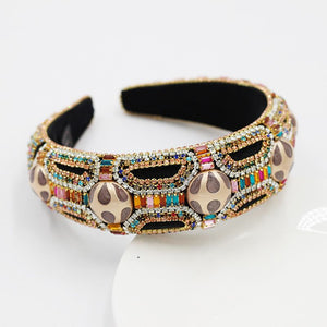 Baroque Style padded colorful head band