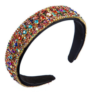 Multi Colored  Rhinestone Head band
