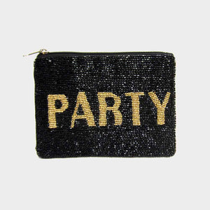 Beaded Party Clutch