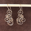 Spiral Wave Earrings, Gold