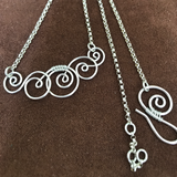 Spiral Wave Necklace