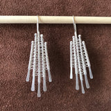 Soumak Weave Earrings, Static