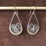 Woven Spiral Wave Hoop Earrings