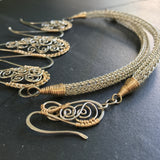 Spiral Shields and Viking Knit Necklace