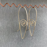 Spiral Ear Wires, Gold with Silver Weaving