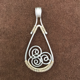 Woven Spiral Wave Pendants