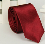 Mens Silk Tie Classic Wedding Solid Necktie Boys Plain Smart Slim Skinny