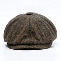 Peaky Blinders Style Herringbone Flat Baker Boy Cap Various Colours