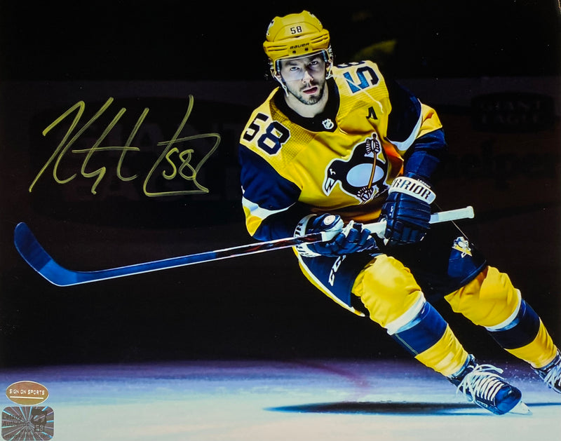 Kris Letang Signed Pittsburgh Penguins 8x10 Photo