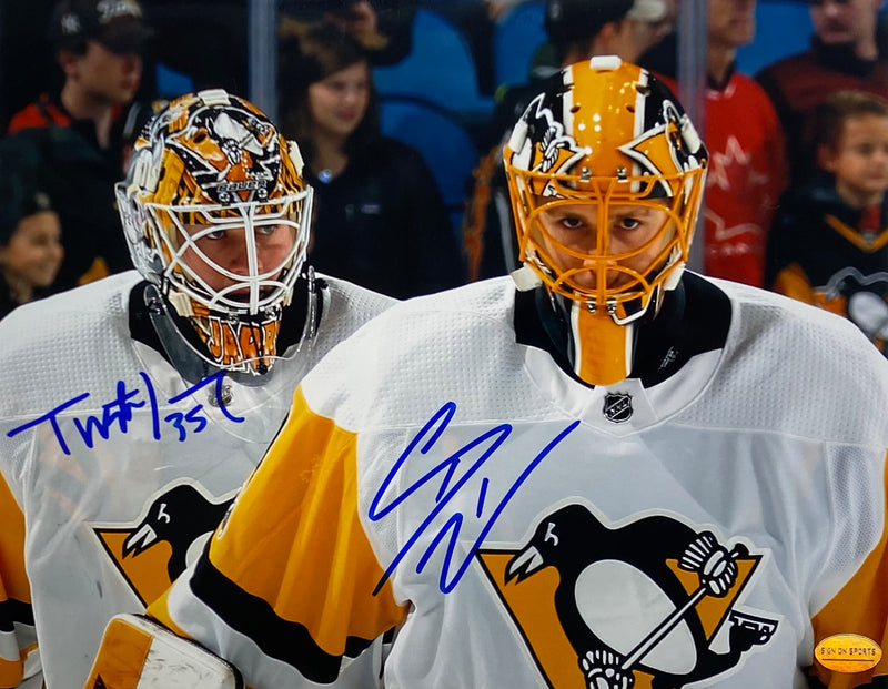 Tristan Jarry and Casey DeSmith Signed Pittsburgh Penguins 8x10 Photo
