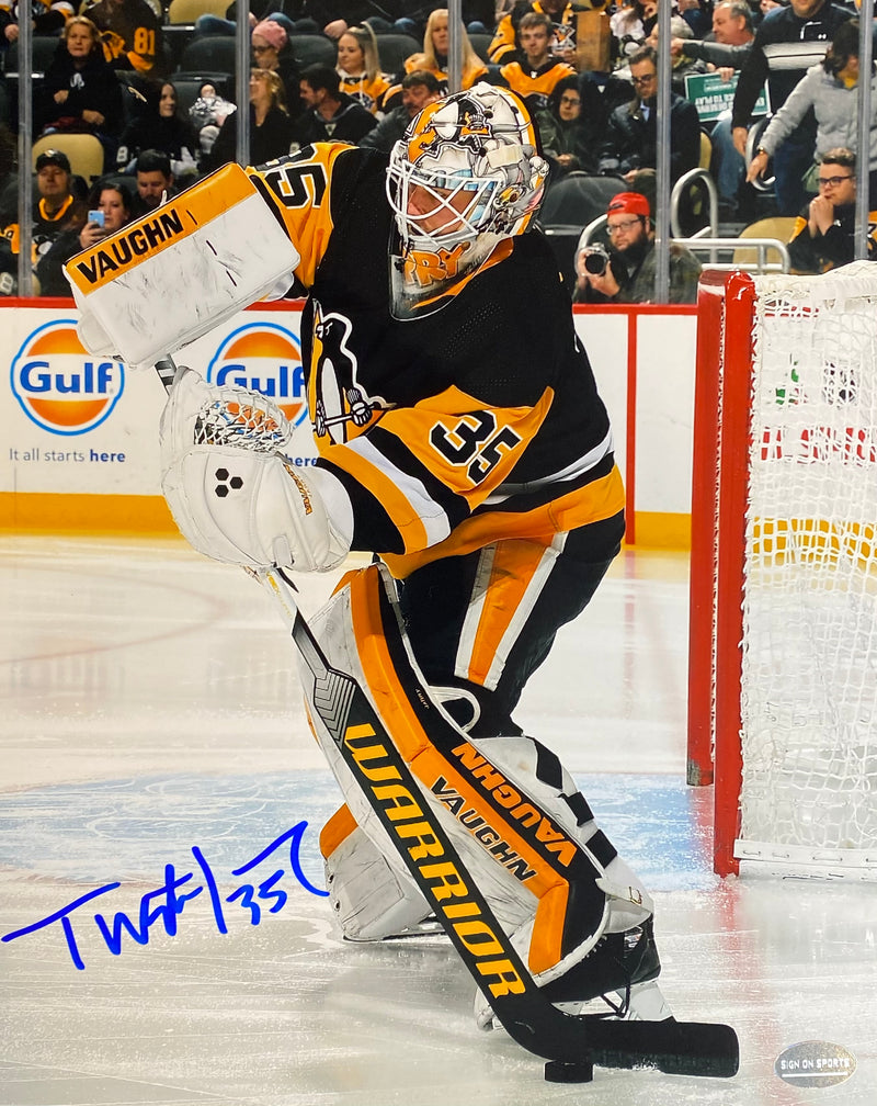 Tristan Jarry Signed Pittsburgh Penguins 8x10 Photo