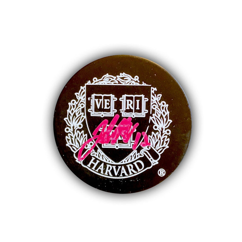 John Marino Signed Harvardl Hockey Puck