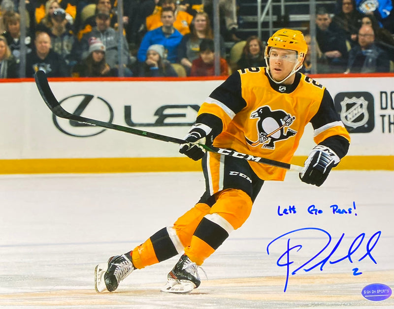 "Chad Ruhwedel Signed, Inscribed ""Let's Go Pens!"" Pittsburgh Penguins 8x10 Photo"
