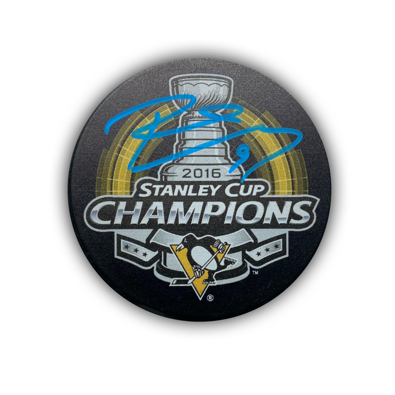 Pascal Dupuis Signed Pittsburgh Penguins 2016 Stanley Cup Hockey Puck