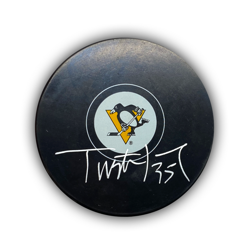 Tristan Jarry Signed Pittsburgh Penguins Puck