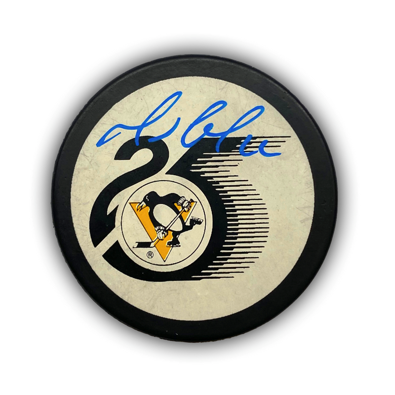 Mario Lemieux Signed Pittsburgh Penguins 25th Anniversary Hockey Puck