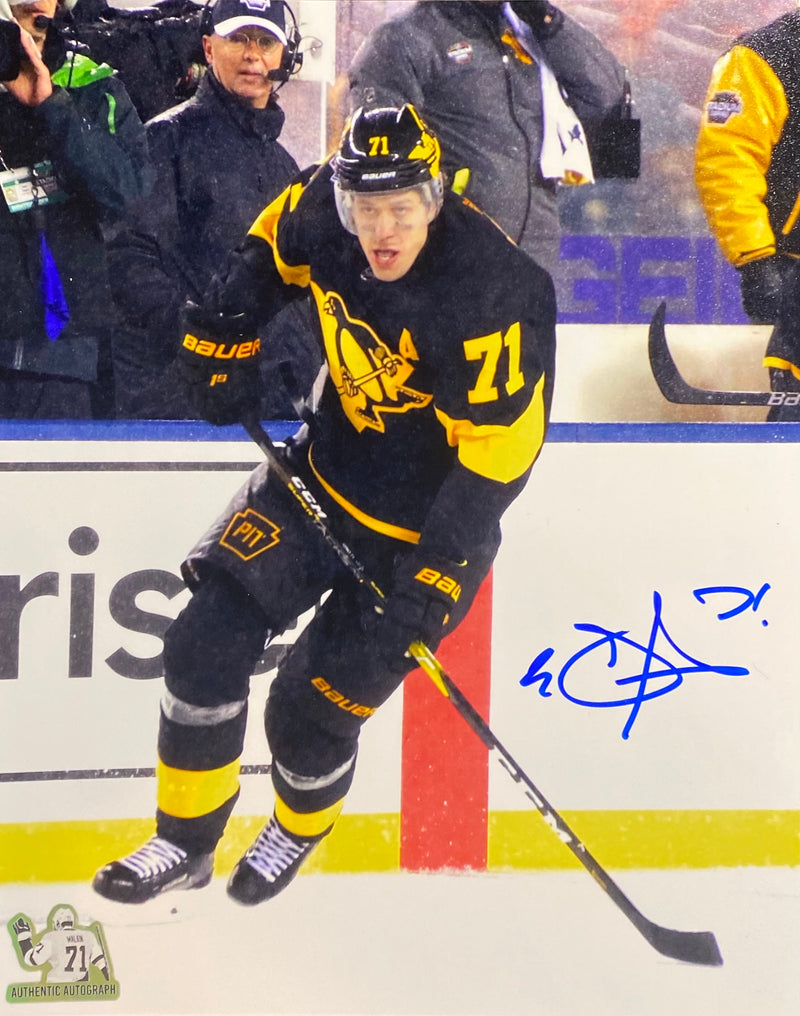 Evgeni Malkin Signed Pittsburgh Penguins 8x10 Photo